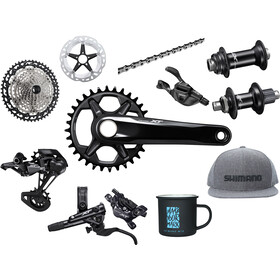 Shimano Deore XT M8100 Priority Pack incl. Hubs 1x12-speed, black/silver